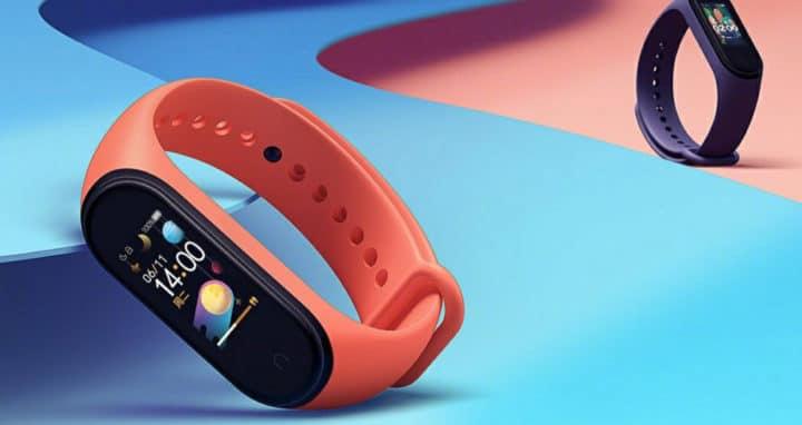 Xiaomi MI Band 4 with orange band
