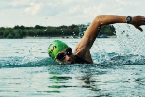 Open water swimming, triathlon