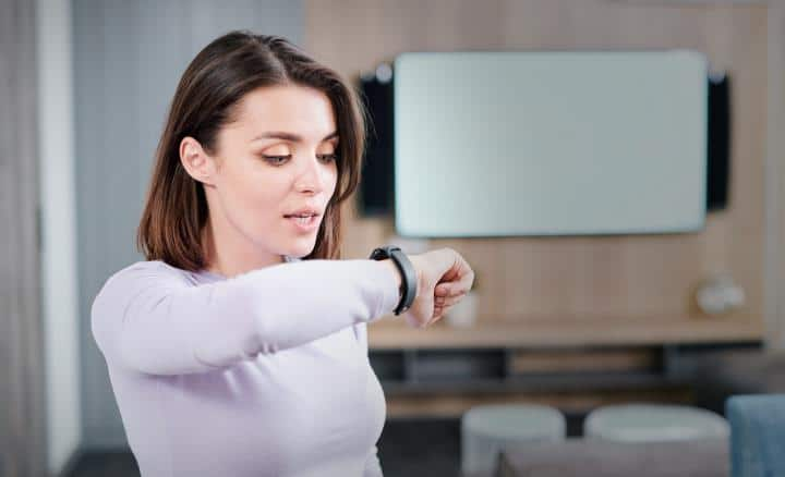 Fitness Tracking Woman