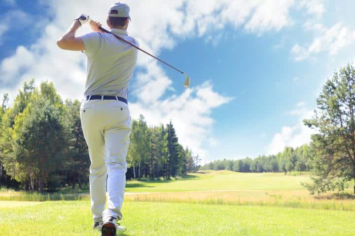Golf man swinging