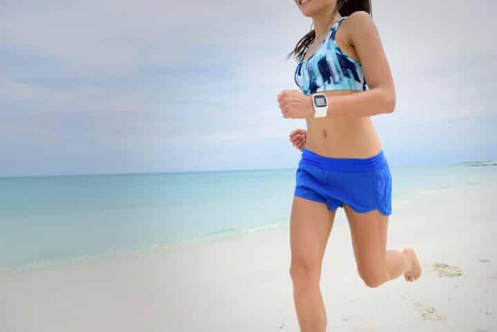 woman running watch