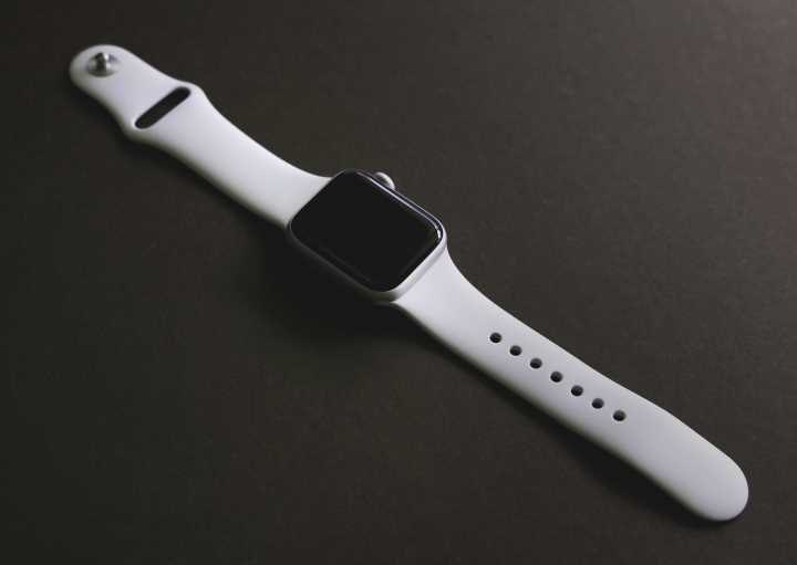 Apple watch with white band