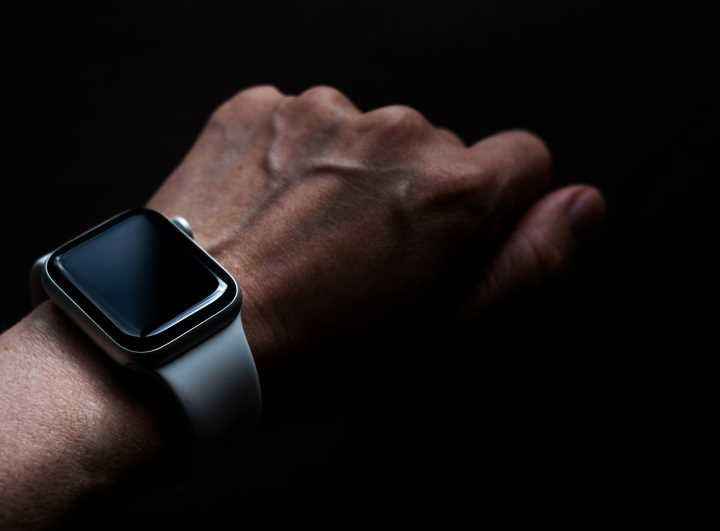 Man's hand and wrist showing the Apple Watch Series 4