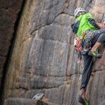 Person rock climbing