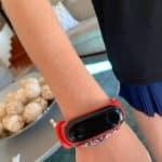 child wearing smartwatch