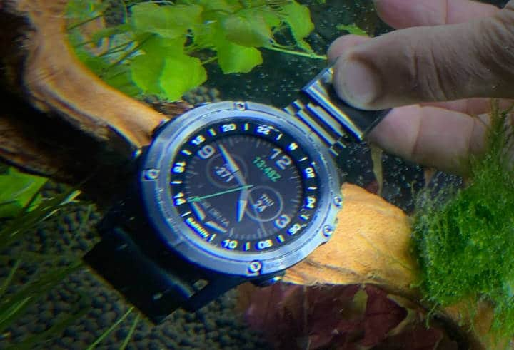 Garmin watch underwater