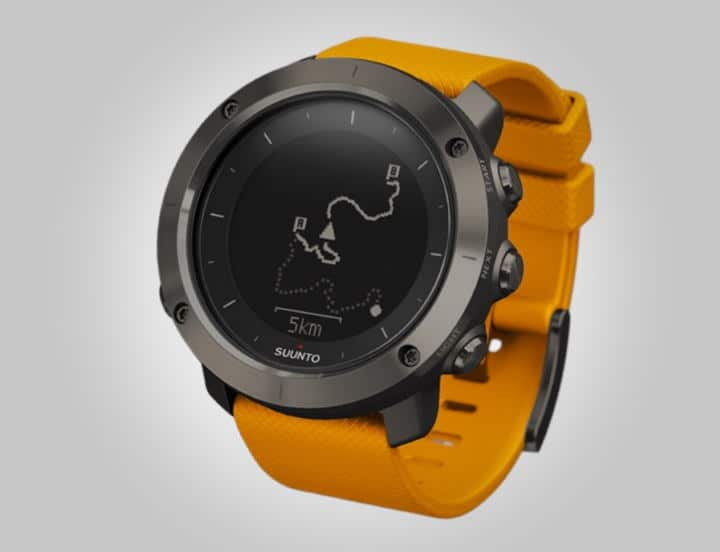 Suunto Traverse with Orange Strap