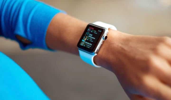 wearing an apple watch