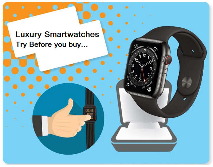 Infographic detailing the top luxury smartwatches to buy