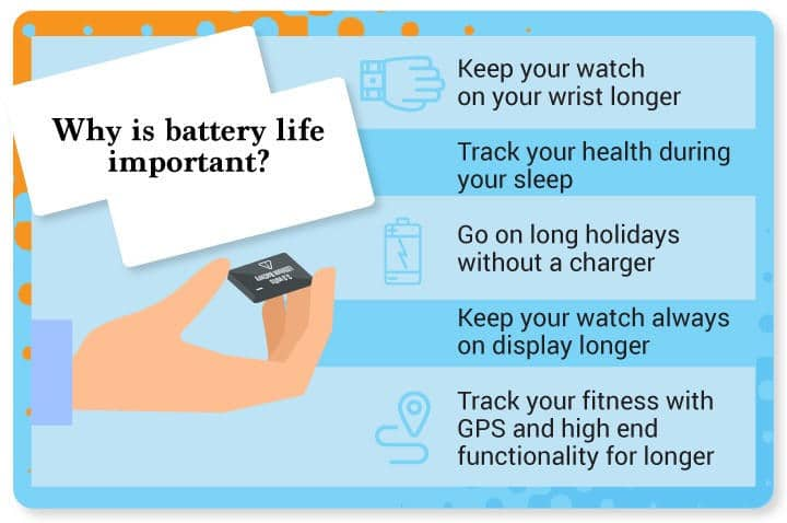 Why is smartwatch battery life important?