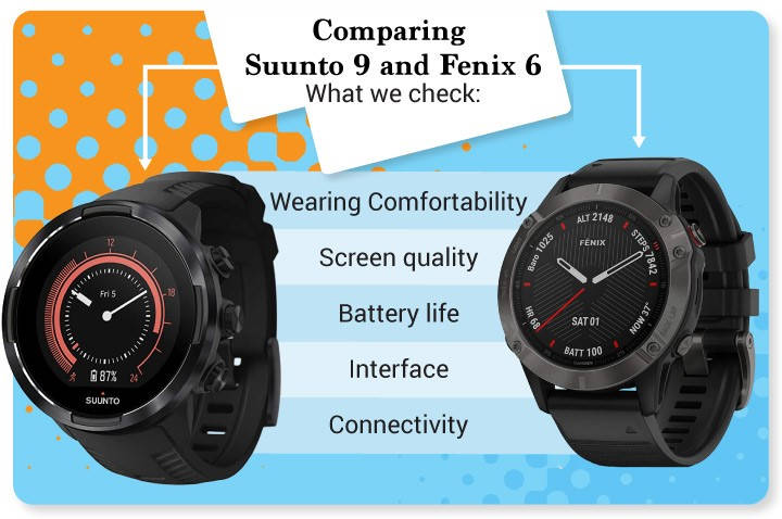 Comparing Suunto 9 and Garmin Fenix 6