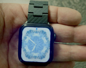 Pitaka Apple Watch Band - shown here on hand