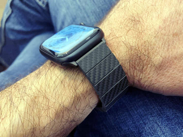 Pitaka Carbon Fiber Apple Watch Band in Modern Style