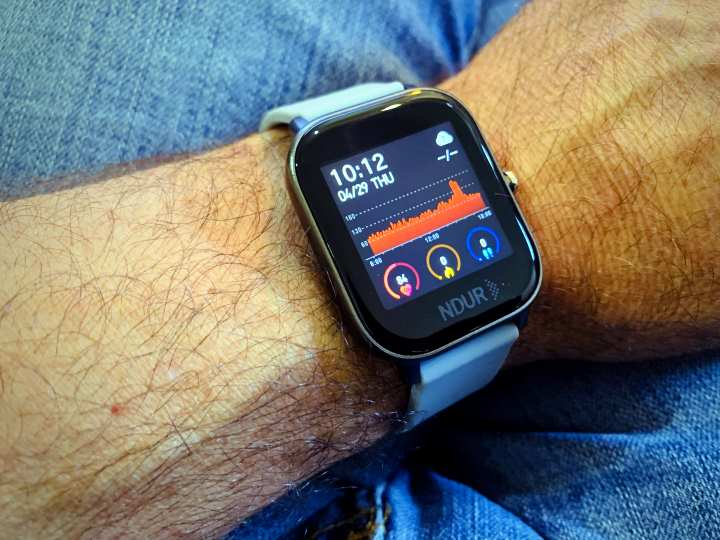 NDur Smartwatch for blood pressure. A top blood pressure watch