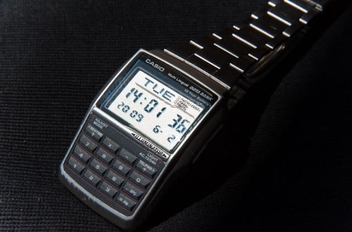 1980's casio history of calculator watches