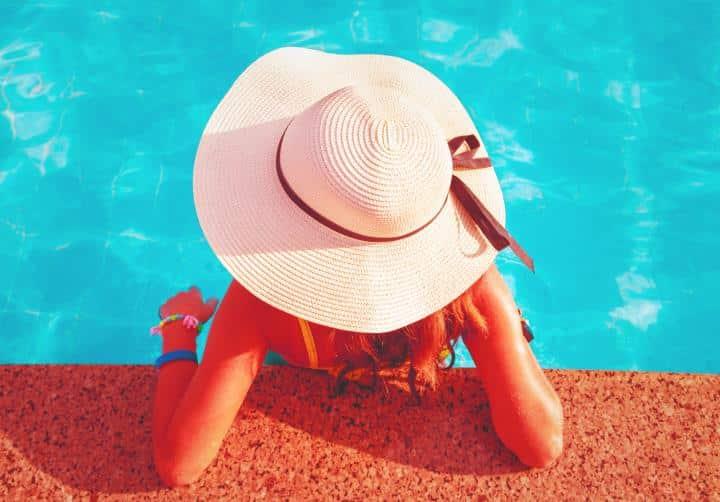 waterproof watch in the pool