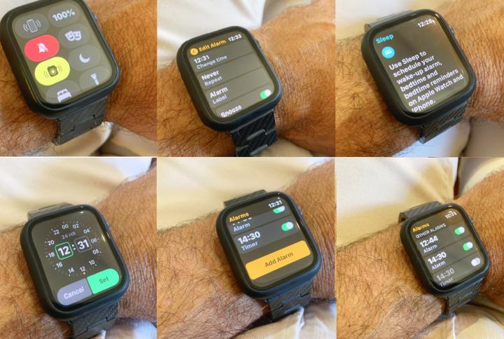 Setting up alarms and vibration on the Apple watch 6