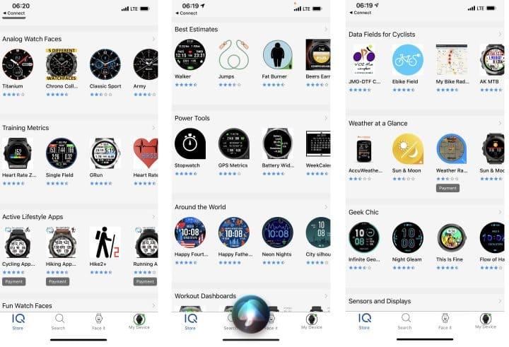 Garmin Connect IQ Apps
