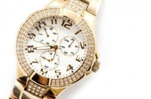 luxury watches on white background