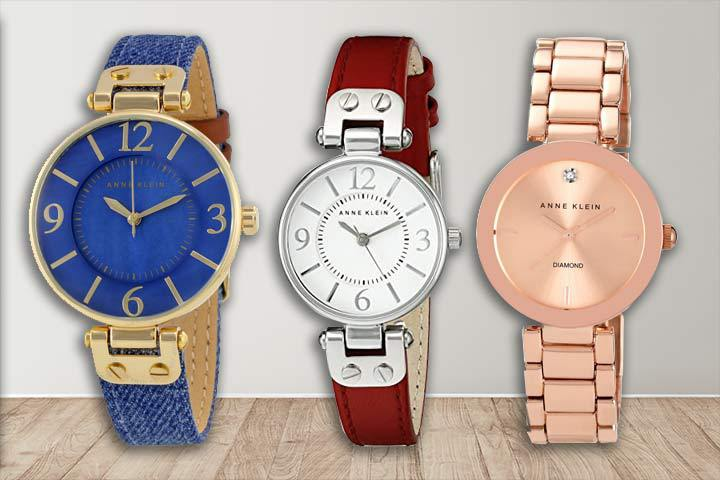 Anne Klein watches for casual wear: AK/10-9168BMDD, AK/109443WTRD and AK/1362RGRG with grey background