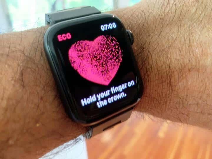 Apple watch 6 ECG measurement