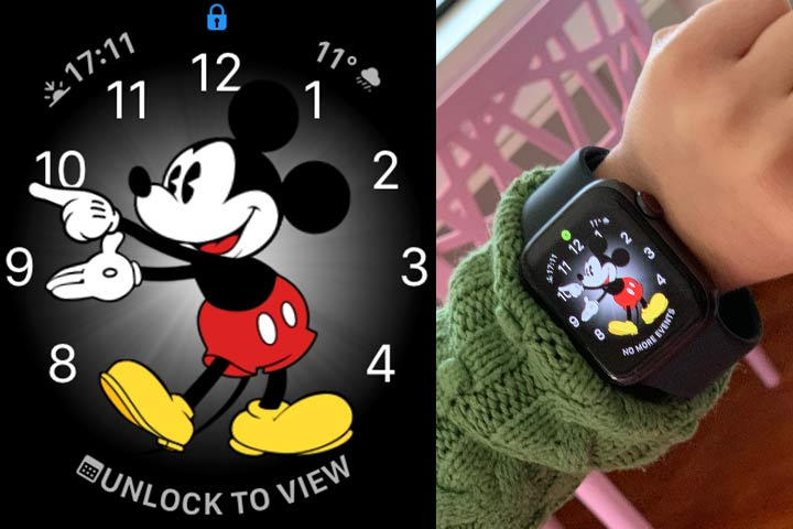 Apple watch mickey mouse screen