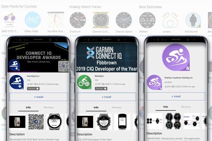 garmin watch gps applications