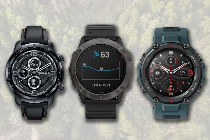 Smartwatches for rugged terrain: Ticwatch Pro 3, Garmin Fenix 6 and Amazfit T-Rex Pro