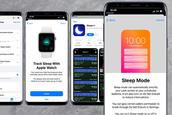 Apple Watch sleep tracking application