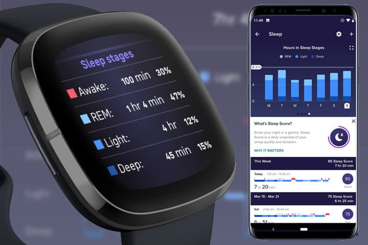 Fitbit watch sleep tracking application