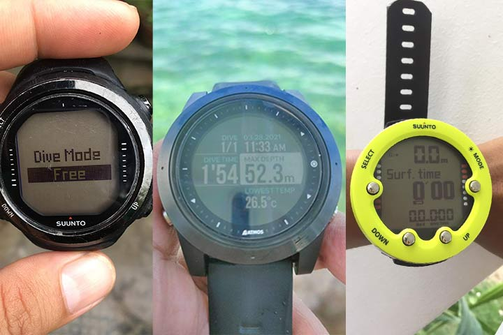 Suunto and Atmos dive watches