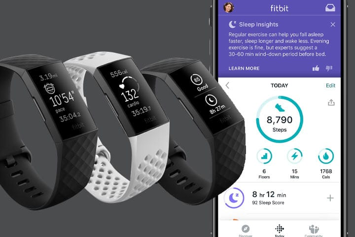 Fitbit Charge 4 with fitbit app activity tracker
