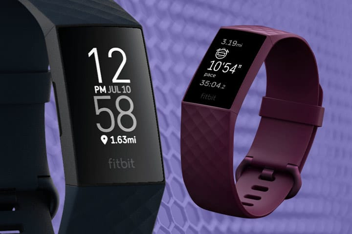 Fitbit Charge 4 black and Rosewood