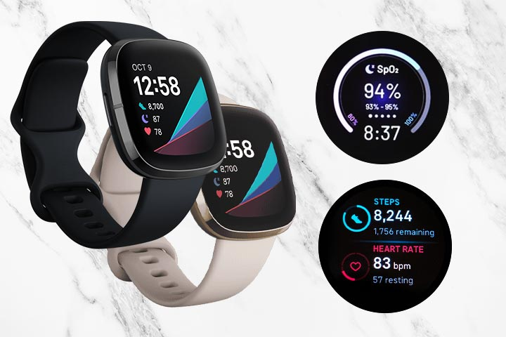 Fitbit Versa black and white