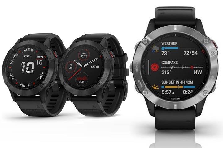 Garmin Fenix 6 different watch faces and widgets