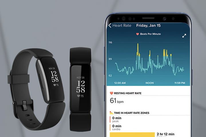 Fitbit Inspire 2 heart tracking application