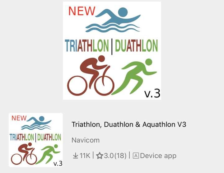 Garmin Triathlon App Example