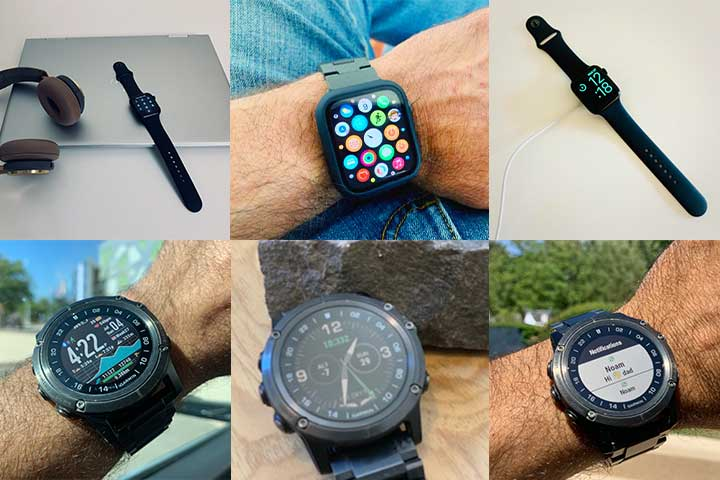Fenix 6X Pro and Apple Watch 6 compilation