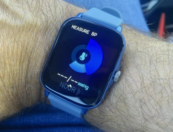 Measure blood pressure on your watch