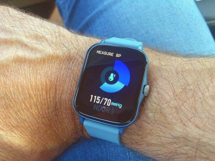 Measure blood pressure with Ndur watch