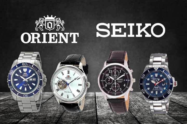 Orient Mako II and Orient Classic vs Seiko SNDC33 Classic Black and Seiko PADI Prospex Solar Dive with black background
