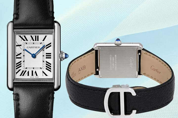 Cartier Tank close up and back view