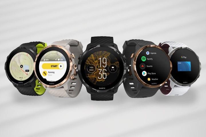 Different Suunto smartwatches