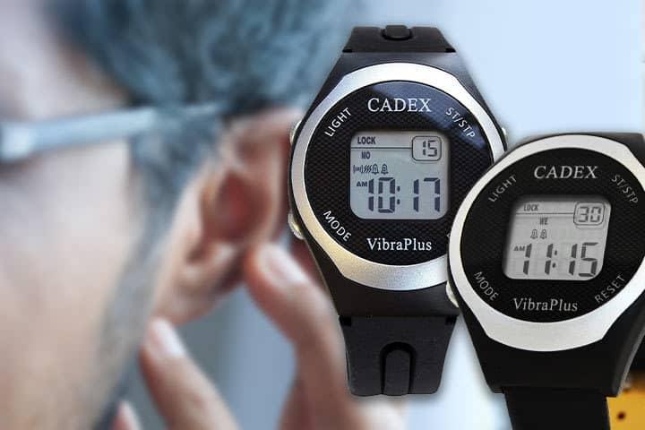 Cadex VibraPlus Sport with deaf person background