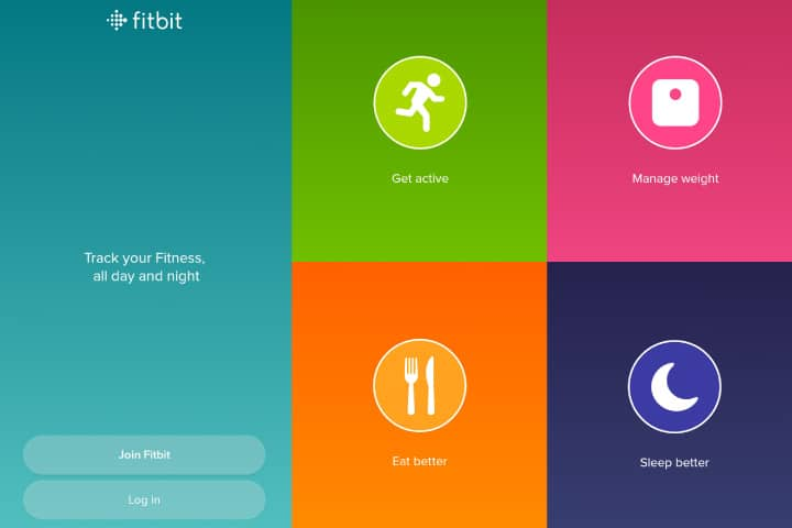 fitbit mobile application screens