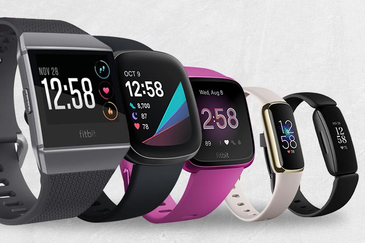 Fitbit Ionice, Fitbit Versa 3, Fitbit Versa Lite, Fitbit Luxe, and Fitbit Inspire 2