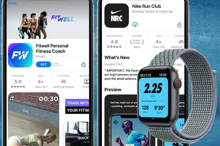 Apple watch 6 running apps