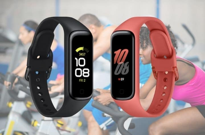 Samsung Galaxy Fit 2 over people at spin class