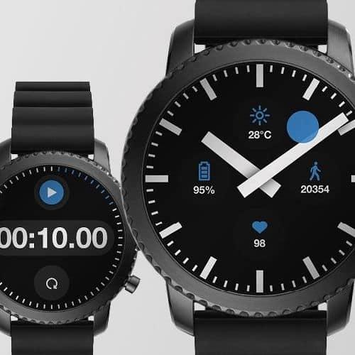 Swiss Clock Watch Face