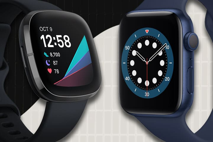 Fitbit Sense vs Apple Watch 6